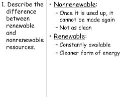 topic energy aim describe the various sources of energy that
