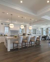 Interior Designs For Kitchen And Living Room by Love The Contrast Of White And Dark Wood Floors By Simmons Estate