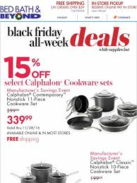 calphalon black friday deals bed bath and beyond 60 off shark vacuums 20 off krups more