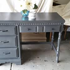 grey desk with drawers find more grey chalk paint desk w 4 drawers black handles for sale
