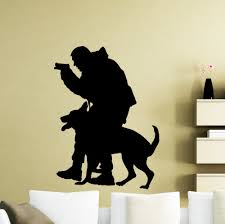 popular police wall decals buy cheap police wall decals lots from policeman k9 dog wall decal police officer vinyl sticker animals home interior art wall decor waterproof