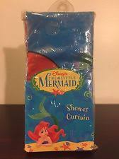 The Little Mermaid Shower Curtain Disney Vinyl Shower Curtains Ebay