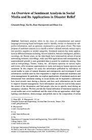 an overview of sentiment analysis in social media and its