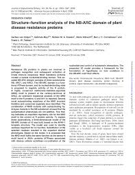 Plant Disease Journal - structure u2014function analysis of the nb arc domain of plant disease