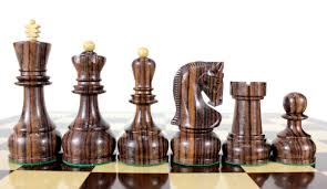 rose wood zagreb staunton wooden chess set pieces king size 4