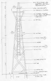 wood tower plans