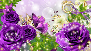 2820 butterflies and roses wallpaper