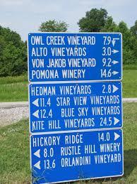 Southern Illinois Wine Trail Map by Shawnee Hills Wine Trail In Southern Illinois