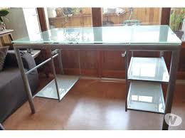 bureau en acier bureau verre et acier bureau bureau bureau en acier et verre trempe