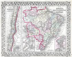 Map Of Brazil South America by File 1874 Mitchell Map Of South America Brazil Bolivia Papaguay