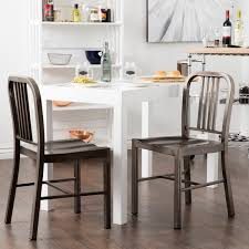 Metal Dining Chairs Clay Alder Home Vintage Metal Dining Chairs Set Of 2 Free