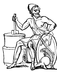 gods clipart hephaestus pencil and in color gods clipart hephaestus