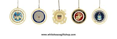 united states military ornament collection five separate boxes