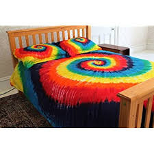 amazon com extreme rainbow tie dye 100 cotton duvet cover set