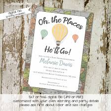 oh the places you will go invitation map katiedid designs