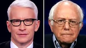 bernie sanders is done with stupid questions and anderson cooper