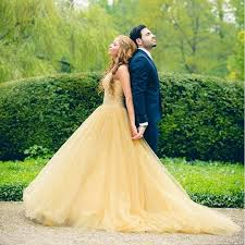 yellow wedding dress amazing yellow wedding dress handmade beaded bridal gown 2016 a