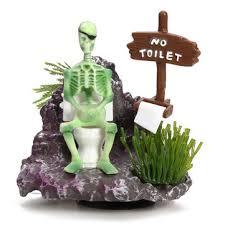 skeleton on toilet air aquarium ornament us 7 34