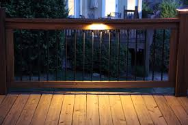 led rail deck lighting photo gallery moonlight decks rcb Kichler Step Lights