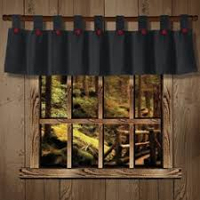Rustic Curtains And Valances Rustic Cabin Lodge Curtains And Drapery