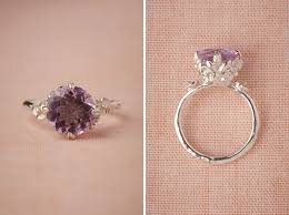 untraditional engagement rings posy ring 557 made with a beautiful pink amethyst front and
