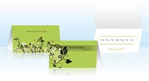 Standard Business Card Format Folded Business Cards Vistaprint