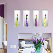 simulation chambre 3d 3d style simulation vases fleurs wall sticker decal accueil
