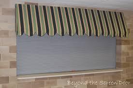how to make an interior window awning beyond the screen door