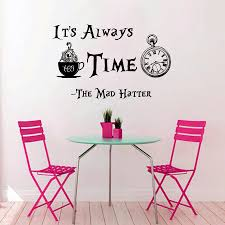 aliexpress com buy clock pattern quotes its always tea time wall