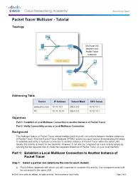 10 3 1 3 packet tracer multiuser tutorial port computer