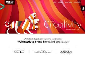trionn design categorized website design inspiration and modern