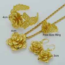 bridal set necklace earring images Beautifully distinctive habesha gold plated floral bridal jewelry jpg