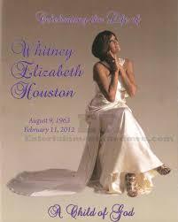 Beautiful Funeral Programs Whitney Houston U0027s Funeral Program Dre Black So Fresh