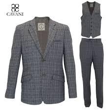 designer weste herren designer tweed blazer weste hosen anzug 3 teilig separat