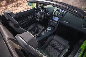 Exotic Car Interior Rent A 2014 Lamborghini Gallardo Convertible Green In Las Vegas