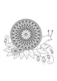 snail mandala mandalas coloring pages for adults justcolor