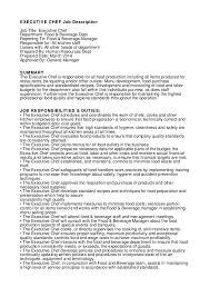 Production Job Description For Resume by 19 Executive Chef Sample Resume Joli Cv De Manager De