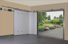 sliding garage doors making faster to access your garage amaza sliding garage doors ideas with white color design made from wooden material combined with concrete garage