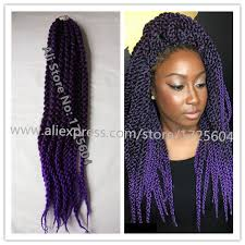 crochet twist hairstyle new style blended purple crochet braids hair 24 3d split cubic