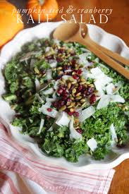 kale salad for thanksgiving jenny steffens hobick autumn chopped kale salad pumpkin seeds