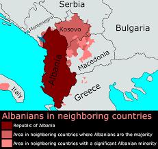 Balkan States Map by Distribution Of Albanians Outside Albania Maps Pinterest Albania