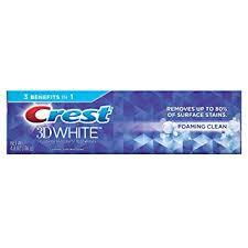 toothpaste whitening amazon com crest 3d white foaming clean whitening toothpaste