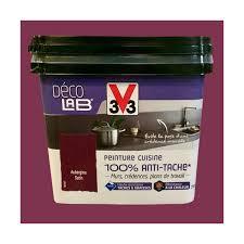 v33 peinture cuisine v33 déco lab peinture cuisine 100 anti tâche aubergine pas cher en