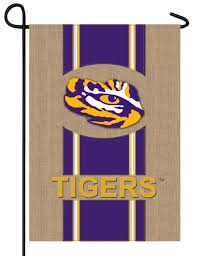tigers burlap garden flag