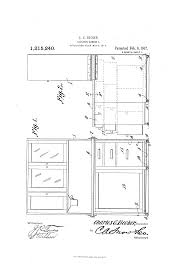 Kitchen Cabinet Diagram Patent Us1215240 Kitchen Cabinet Google Patents