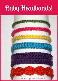crochet headbands for babies free crochet pattern six styles of baby headbands pattern paradise