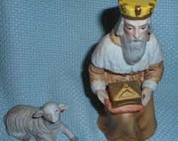 vintage homco nativity etsy