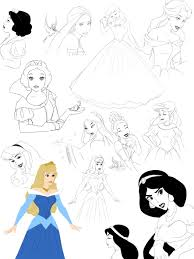 disney princess sketches by precia t on deviantart