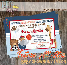 all baby shower future all mvp sports jungle baby shower invitation