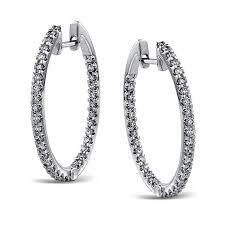 white gold diamond hoop earrings simon g engagement rings 18k white gold diamond hoop earrings